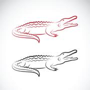Vector of crocodile design on white background. Wild Animals. Stock Illustration