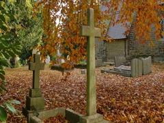 Autumn Leaves & Brackenfield Church, Derbyshire Stock Footage