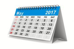 2017 year calendar. May. Isolated 3D image Stock Illustration
