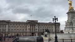 Buckingham Palace  in London, United Kingdom Stock Footage