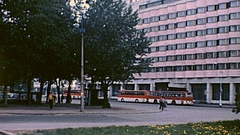 Leningrad 1984: tram passes in the street Stock Footage