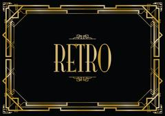Retro art deco invitation Stock Illustration