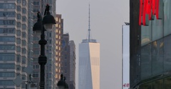 One Trade Centre from Herald Square, Manhattan Stock Footage