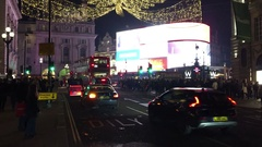 Traffic on Piccadilly Circus  in London, United Kingdom Stock Footage