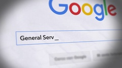Google Search Engine - Search For General Services Administration Stock Footage