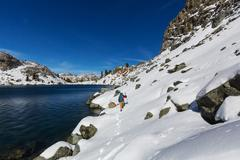 Hike in Sierra Nevada Stock Photos