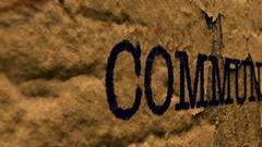 Camera slide on communication text on grunge background Stock Footage