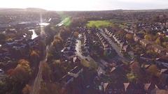 Aerial view of a Stourbridge housing estate. Stock Footage
