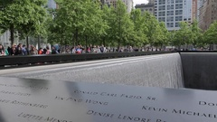 World Trade Centre Memorial Pool, Manhattan Stock Footage