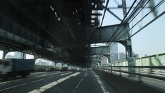 Travelling Ed Koch Queensboro Bridge Stock Footage