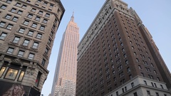 The Empire State Building from Herald Square, Manhattan Stock Footage