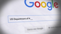 Google Search Engine - Search For US Department of Housing and Urban D Stock Footage