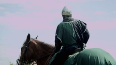 Knight on a Horse Stock Footage