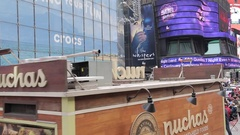 Times Square from open top bus, Manhattan Stock Footage