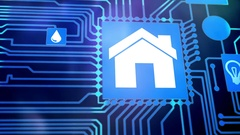 Smart Home Device - House automation home Control concept Stock Footage