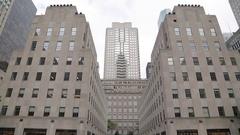 Rockefeller Plaza, Manhattan Stock Footage