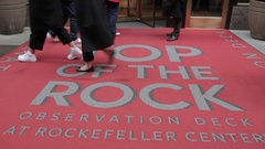 Top of The Rock Entrance, Manhattan Stock Footage