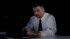 Man with a disgusted look video file. Expressions of disgust Stock Footage