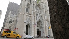 St Patricks Cathedral on 5th Avenue, Manhattan Stock Footage