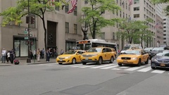 Bustling 5th Avenue, Manhattan Stock Footage