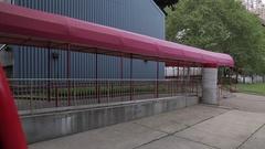 View of Roosevelt Island Tram, Manhattan Stock Footage
