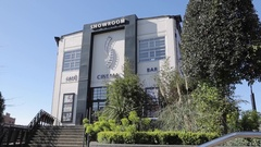 Showroom Theatre & Sheffield University steelwork in City Centre, Sheffield, Stock Footage