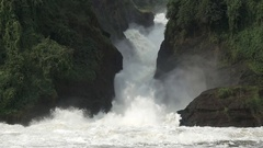 Murchison Falls closeup in super slow motion Stock Footage