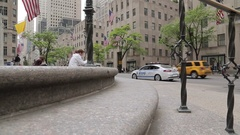 Steps of St Patricks Cathedral on 5th Avenue, Manhattan Stock Footage