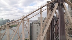 View from Roosevelt Island Tram, Manhattan Stock Footage