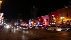 Nashville Broadway Street Scene Downtown Stock Footage