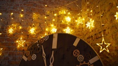Loft christmas, unusual holiday atmosphere Stock Footage