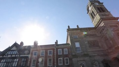 Guildhall & War Memorial, Derby Derbyshire Stock Footage
