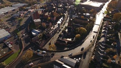 Aerial view of Stourbridge town centre. Stock Footage