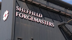 Sheffield Forgemasters Bulding, Sheffield, South Yorkshire Stock Footage