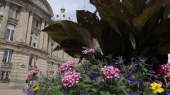 Council House & Victoria Square, Birmingham, West Midlands Stock Footage