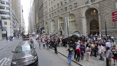 Open Top Bus journey, Manhattan Stock Footage