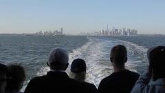Manhattan from Staten Island Ferry, Manhattan Stock Footage