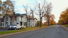 Old homes Niagara Falls NY Stock Footage