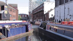 Birmingham Canal Old Line, Birmingham, West Midlands Stock Footage