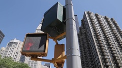 Pertain Sign & Buildings, Manhattan Stock Footage