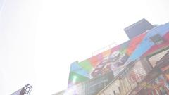 Wall art in Chelsea, Manhattan Stock Footage