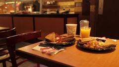 Breakfast in Deli Bar, Manhattan Stock Footage