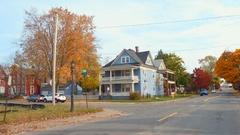 Residential neighborhood Niagara Falls NY Stock Footage