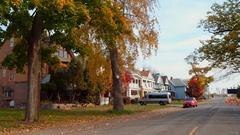 Residential neighborhood Niagara Falls NY 4k Stock Footage