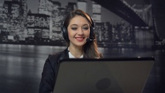Call Center Operator Stock Footage