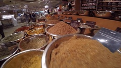 Spice Stall at Grand Central Terminal Market, Manhattan Stock Footage