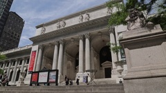 New York Public Library, Manhattan Stock Footage