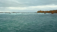 Rough waters at Niagara River Stock Footage