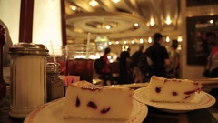 New York Cheesecake in Grand Central Terminal, Manhattan Stock Footage
