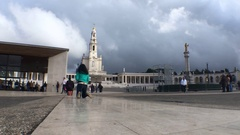 Pilgrimage to Basilica of Our Lady of Fatima, Portugal Stock Footage